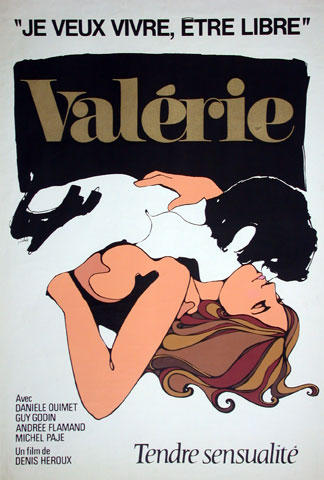Poster for the film Valérie by producer Denis Héroux