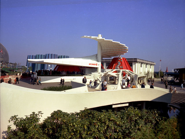 The Air Canada pavilion at the Montréal World Fair in 1967