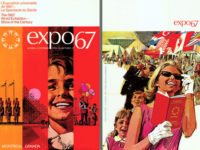 Posters of the Montréal World Fair in 1967