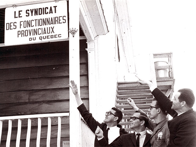 Opening of the office of the Syndicat des fonctionnaires provinciaux du Québec, Lasarre section in 1967